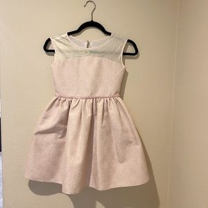 Girls pink and gold dress